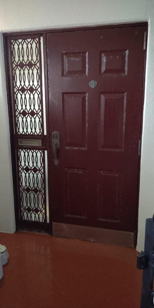 沖縄市玄関ドア取替 リシェント カバー工法